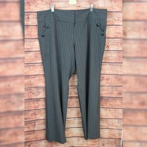 Ashley Stewart women's grey stripped trousers